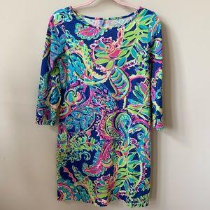 Lily Pulitzer tropical leaf cotton dress #62